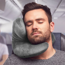 Load image into Gallery viewer, J-pillow travel pillow Silver gray