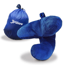 Load image into Gallery viewer, J-pillow travel pillow - Plain blue