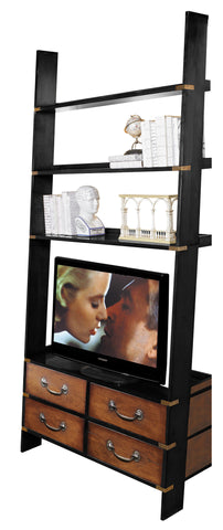 Gallery Ladder Timber Shelf Unit