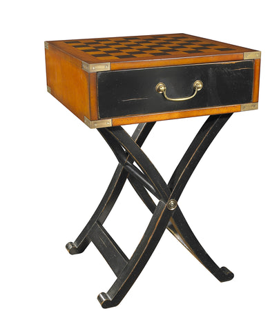Grandmaster's Box Timber Chess Board Side Table