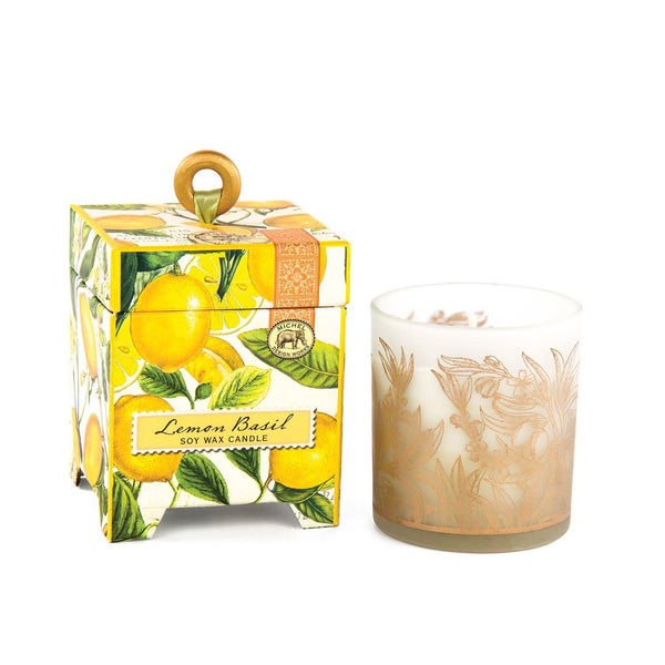 Michel Design Works Lemon Basil 6.5oz Soy Wax Candle