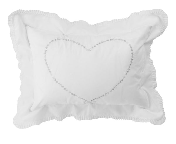 Feltman Brothers Girls Floral Heart Pillow Case
