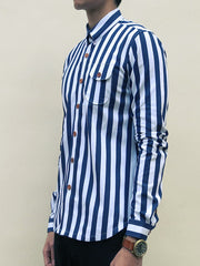 Nautical Stripe (Navy Blue) - Front view 4