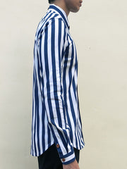 Nautical Stripe (Navy Blue) - Side right
