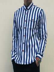 Nautical Stripe (Navy Blue) - Front view 3