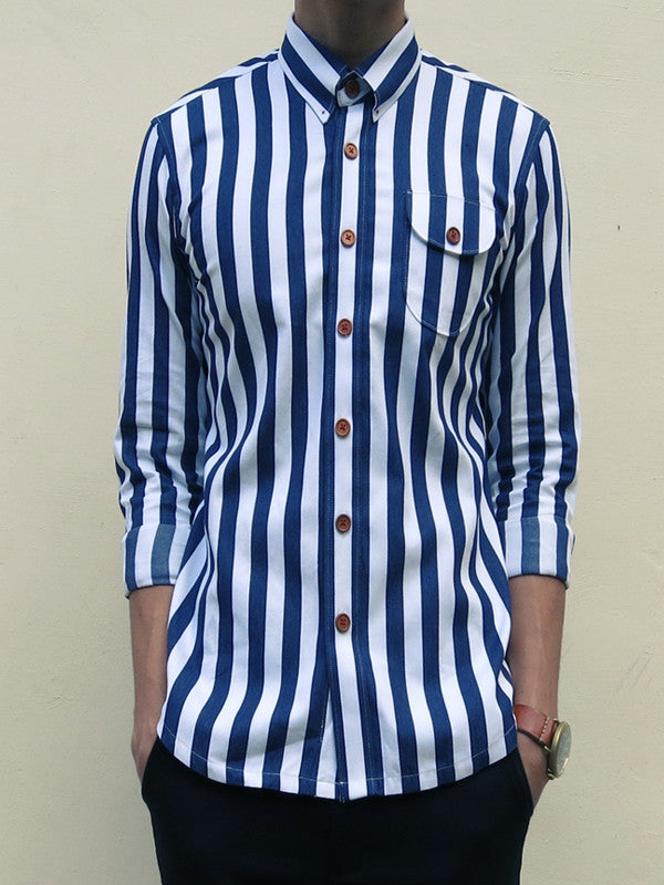 Nautical Stripe (Navy Blue) - Front view