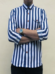 Nautical Stripe (Navy Blue) - Front view 2