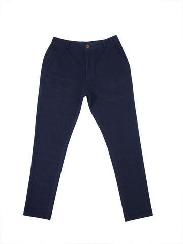 Corduroy Tapered Pants (Navy Blue) - 25% Off
