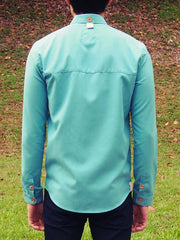 Curve Collar Shirt (Turquoise)