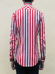 Nautical Stripe (Red) - Back view