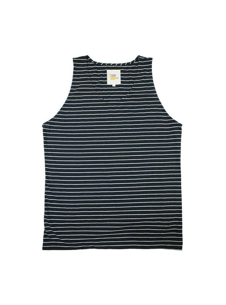 Tank Top in Stripes (Navy Blue)