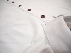 Under-sleeve Contrasting Oxford Shirt (White)