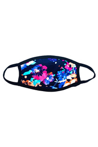 Floral navy adult face mask