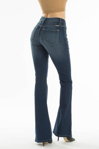 KANCAN Dark wash flares