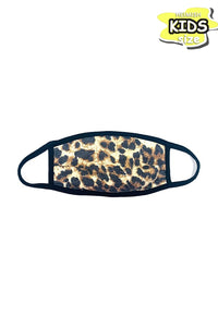 Leopard print kids face mask