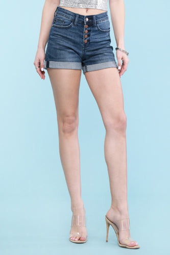 JB Cuffed buttonfly jean shorts style#15007PL