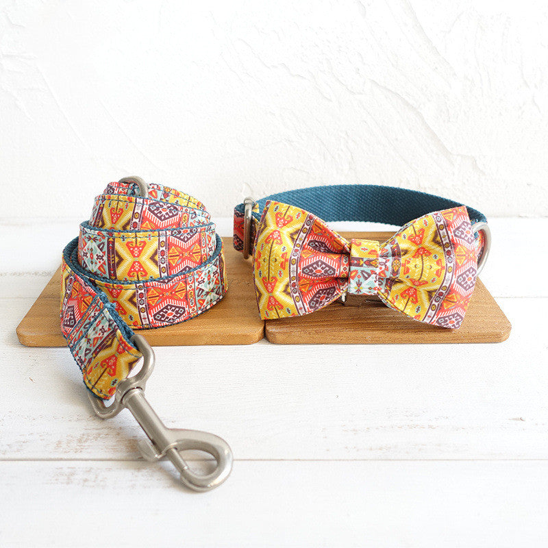 BOHO BOWTIE DOG COLLAR