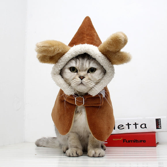 Funny Elk Design Cat Costume