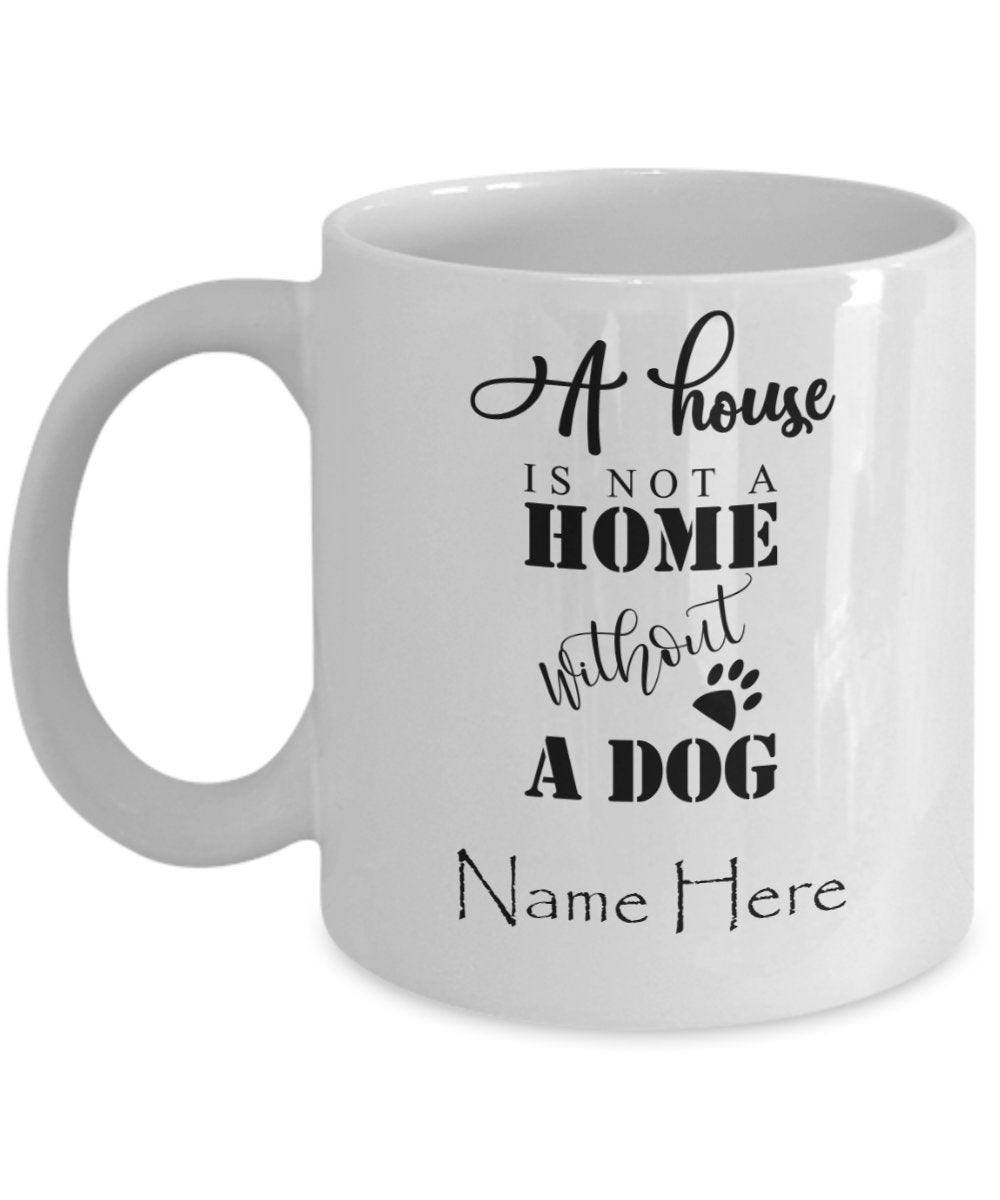 Personalized Gift For Her Coffee Mug Puppy Owners with Custom Name for Dog Lover Mug Dog Mom Christmas Birthday Gifts - PetsDoo