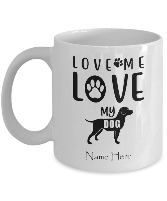 Personalized Coffee Lovers Gift Custom Mug with Your Dog Name for Pet Owners Dog Lover Mug Dog Mom Gift Funny Coffee Mug for Puppy Owners