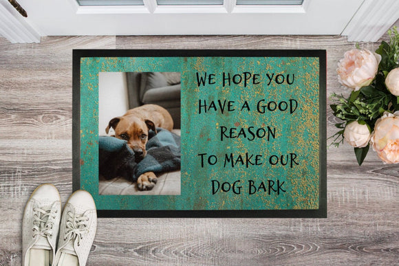 Custom Dog Doormat - Personalized Pet Doormat , Animal Lovers Gifts