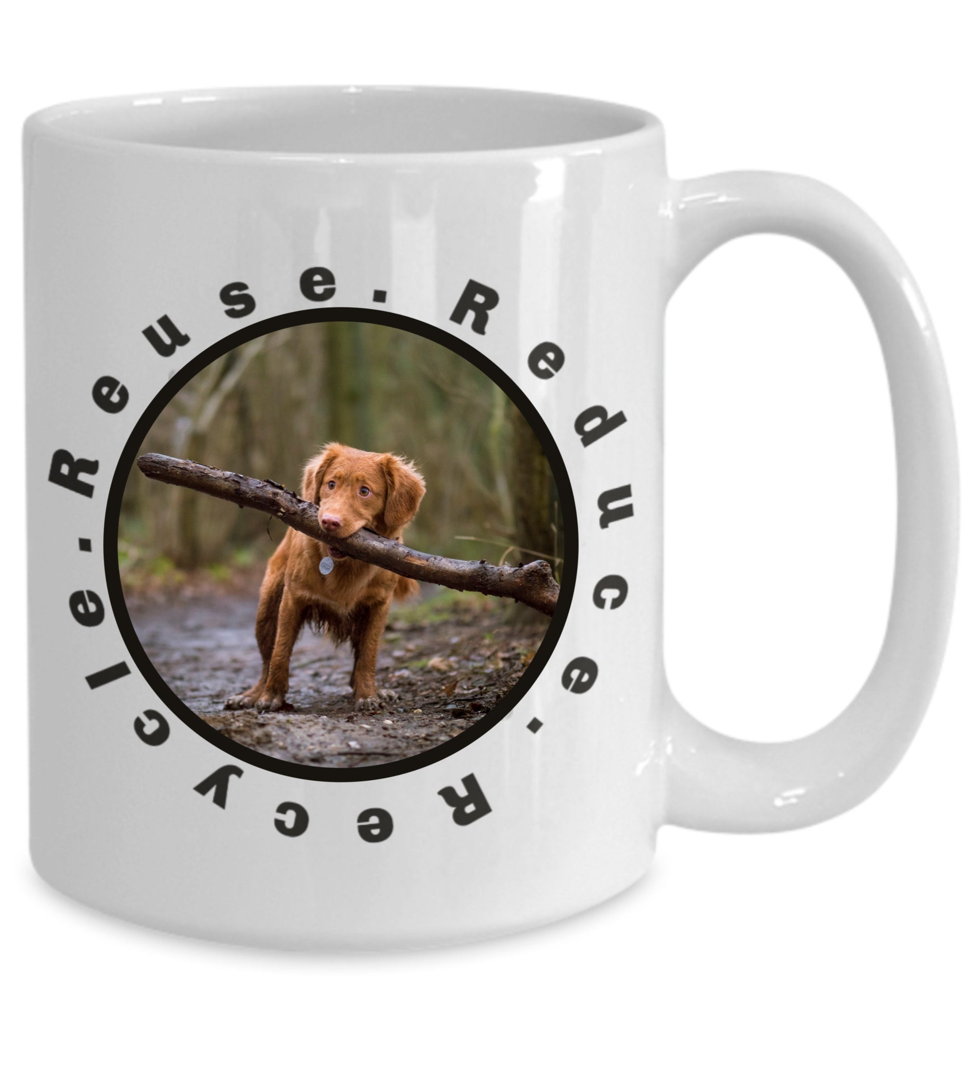 Custom Pet Coffee Mug Personalized Photo Mug with Custom Name for Pet Owners Dog Lover Mug Dog Mom Gift Recycle Coffee Mug for Puppy Owners - PetsDoo