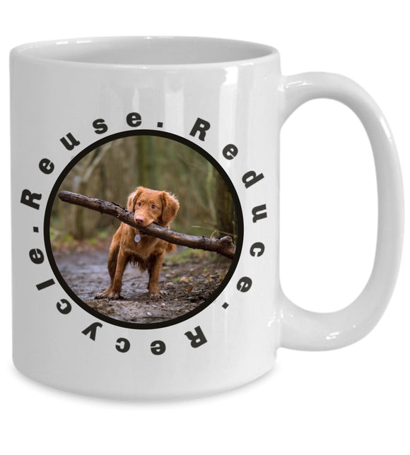 Custom Pet Coffee Mug Personalized Photo Mug with Custom Name for Pet Owners Dog Lover Mug Dog Mom Gift Recycle Coffee Mug for Puppy Owners