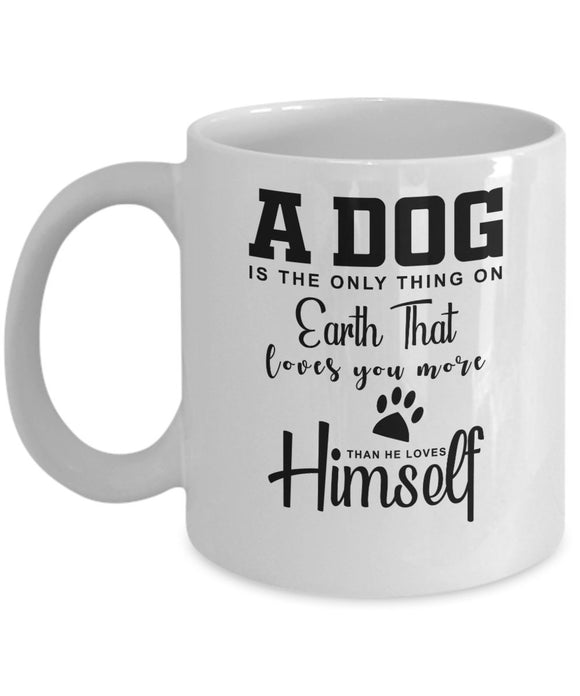 Pet Coffee Mug Personalized Mug with Custom Name Option for Pet Owners Dog Lover Mug Dog Mom Christmas Gift Coffee Mug for Puppy Owners