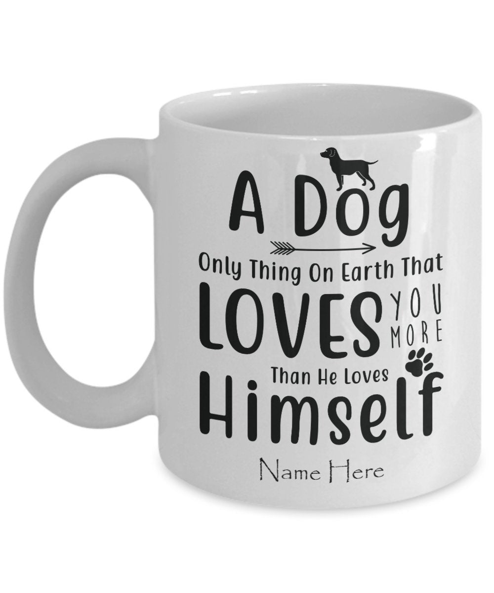 Custom Coffee Mug Puppy Owners with Personalized Name for Pet Owners Dog Lover Mug Dog Mom Christmas Gift Best Friend Birthday - PetsDoo