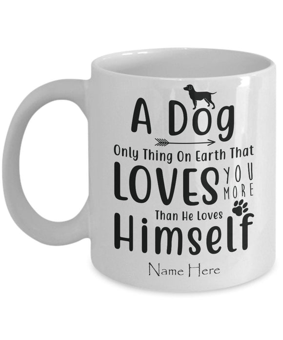 Custom Coffee Mug Puppy Owners with Personalized Name for Pet Owners Dog Lover Mug Dog Mom Christmas Gift Best Friend Birthday