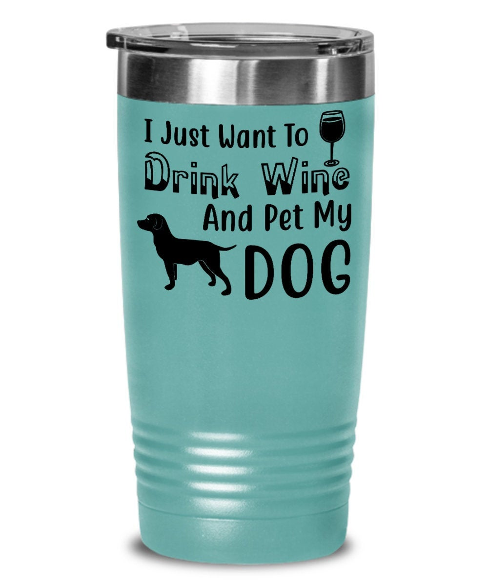 Wine Tumbler For Dog Lovers, Coworker Office Tumbler Gifts for Men and Women for Work Secret Santa Christmas Best Friend  Birthday - PetsDoo