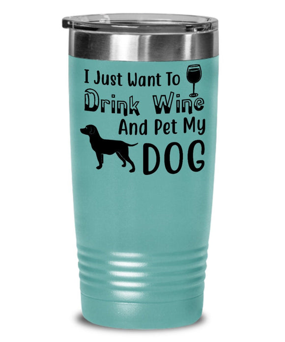 Wine Tumbler For Dog Lovers, Coworker Office Tumbler Gifts for Men and Women for Work Secret Santa Christmas Best Friend  Birthday