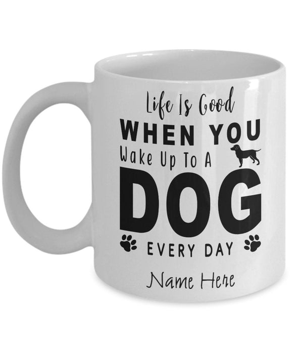 Personalized Pet Coffee Mug Custom Name Mug with Your Dog Name for Pet Owners Dog Lover Mug Dog Mom Gift Funny Coffee Mug for Puppy Owners
