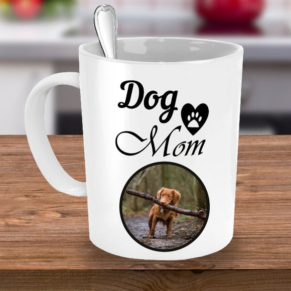 Personalized Coffee Mug Custom Photo Mug with Custom Name for Pet Owners Dog Lover Mug Dog Mom Gift Funny Coffee Mug for Puppy Owners
