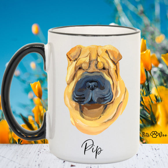 Char Pei Dog Mug - Char Pei  Dog Gifts - Personalized Dog Dad Mug  - Dog Mom Owner Gift - Gift Ideas for Dog Lover