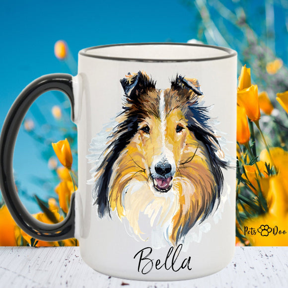 Collie Dog Mug - Collie Dog Gifts - Personalized Dog Dad Mug  - Dog Mom Owner Gift - Gift Ideas for Dog Lover