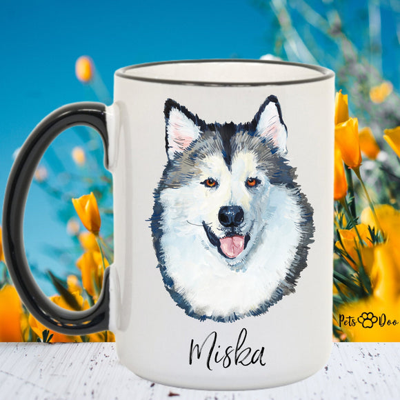 Malamute Dog Mug - Malamute Dog Gifts - Personalized Dog Dad Mug  - Dog Mom Owner Gift - Gift Ideas for Dog Lover