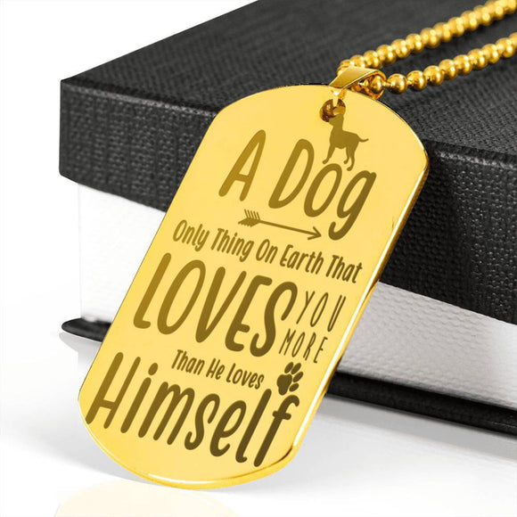 Personalized Memorial Dog Tag Chain, Pet Remembrance Necklace, Dog Remembrance Chain, Pet Remembrance Gift For Him