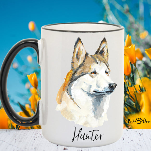 Husky Dog Mug - Husky Dog Gifts - Personalized Dog Dad Mug  - Dog Mom Owner Gift - Gift Ideas for Dog Lover