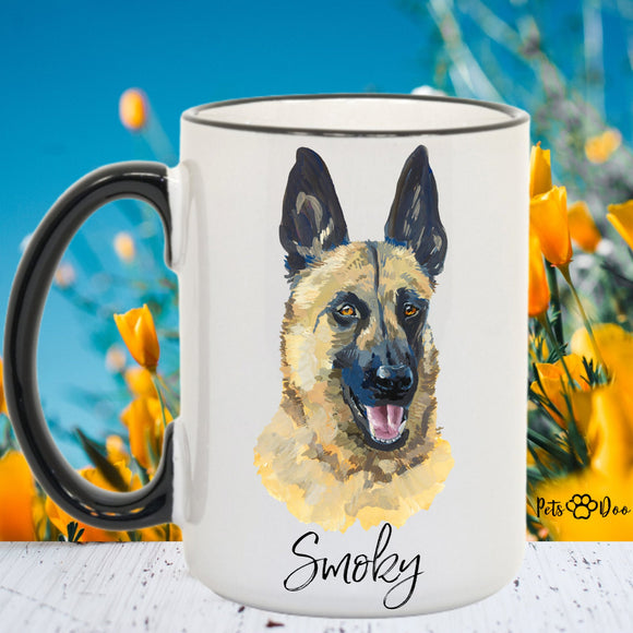Malinois Dog Mug - Malinois  Dog Gifts - Personalized Dog Dad Mug  - Dog Mom Owner Gift - Gift Ideas for Dog Lover