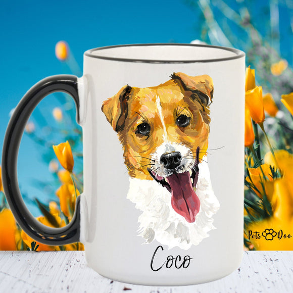 Jack Russel Dog Mug - Jack Russel Dog Gifts - Personalized Dog Dad Mug  - Dog Mom Owner Gift - Gift Ideas for Dog Lover