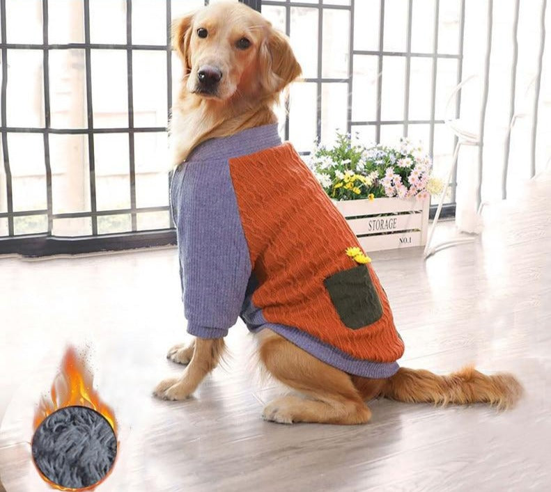 Warm Dog Sweater -Two Feet Jackets - PetsDoo