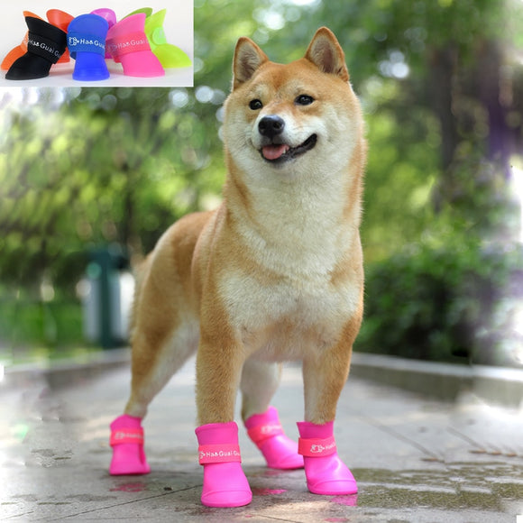 4Pcs/set-Pet-Waterproof-Boot