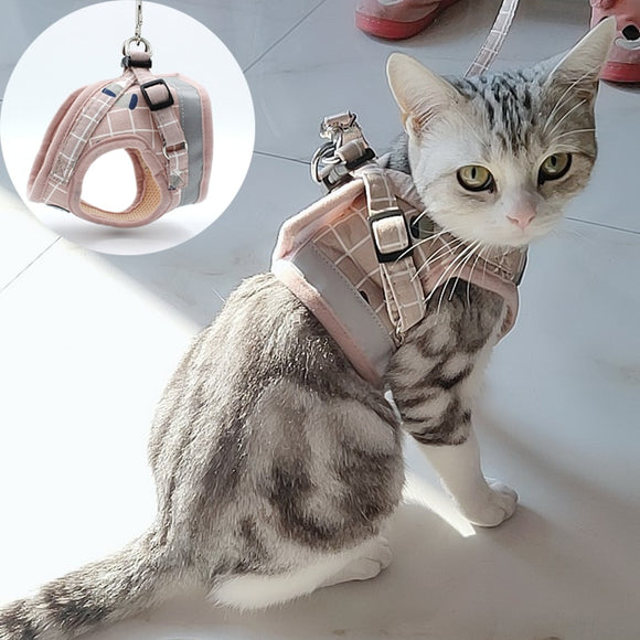 Fashion Plaid Cat Harness
