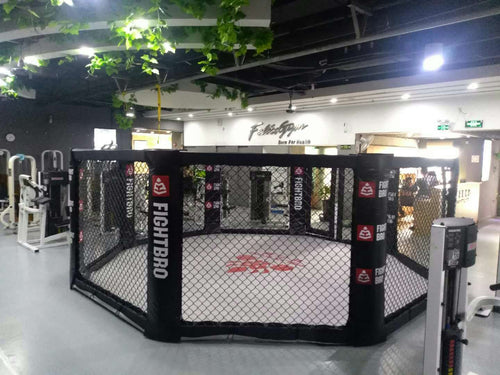 FIGHTBRO Elite octagon floor cage side-to-side 4m