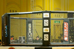 FIGHTBRO Competition octagon cage corner-to-corner 5.3m w/0.6m catwalk