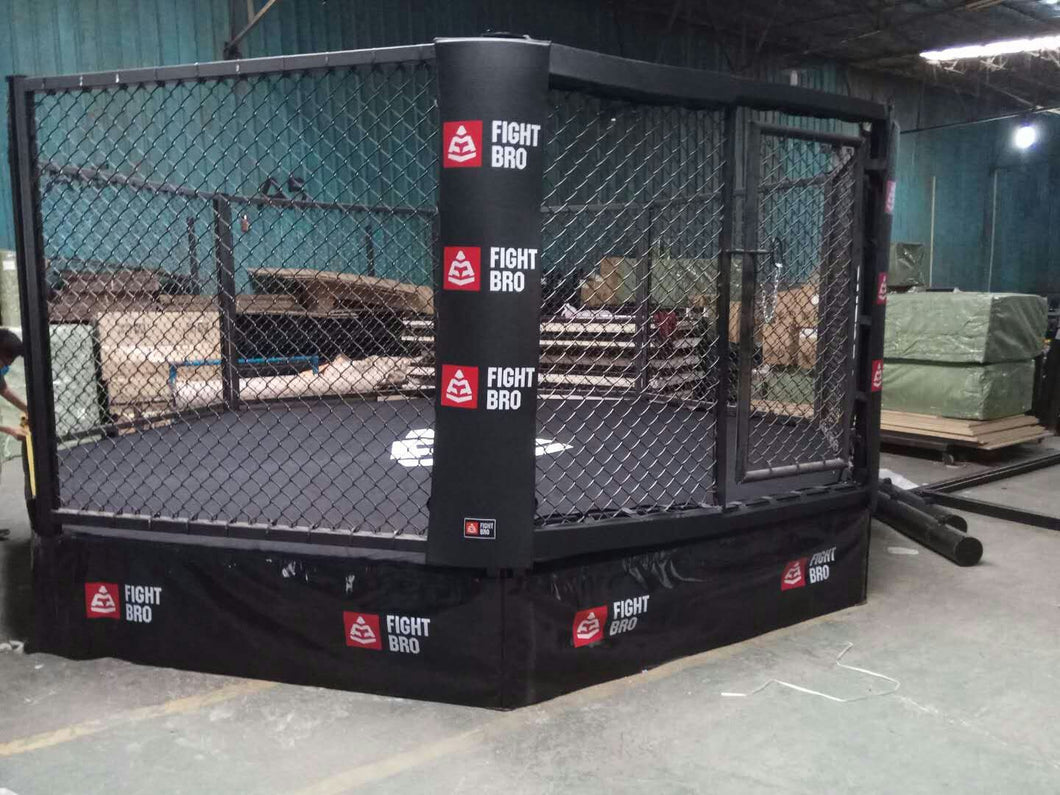 FIGHTBRO Elite octagon elevated cage side-to-side 4m