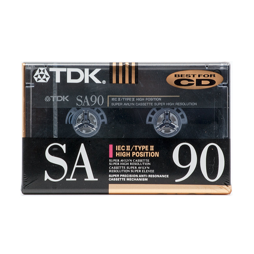 Box of 10: 1990 TDK SA 90 Type II Studio Cassette Tapes