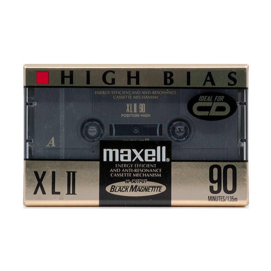 1992 Maxell XLII 90 Type II Chrome Cassette Tape