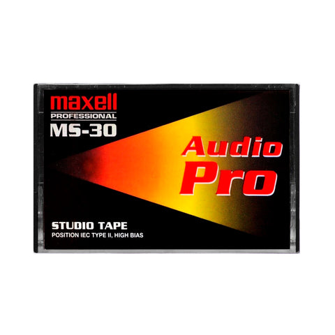 1998 Maxell MS 30 Type II Studio Cassette Tape
